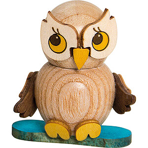 Small Figures & Ornaments Kuhnert Mini Owls Owl Child with Snowboard - 4 cm / 1.6 inch