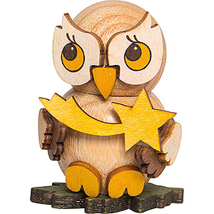 Gift Ideas Lucky Charm Owl Child with Star - 4 cm / 1.6 inch