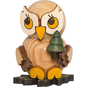 Small Figures & Ornaments Kuhnert Mini Owls Owl Child with Tree - 4 cm / 1.6 inch