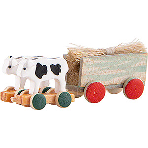 Small Figures & Ornaments Flade Flax Haired Children Ox Cart - 2 cm / 0.8 inch