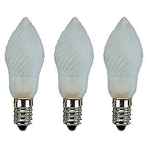 World of Light Spare bulbs Pear Lamp Frosted - E14 Socket - 12V/3W