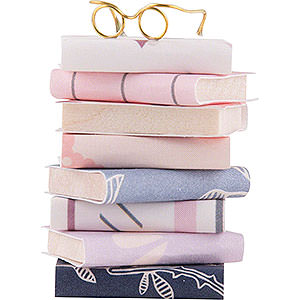 Small Figures & Ornaments Flade Flax Haired Children Pile of Books - 3,5 cm / 1.4 inch