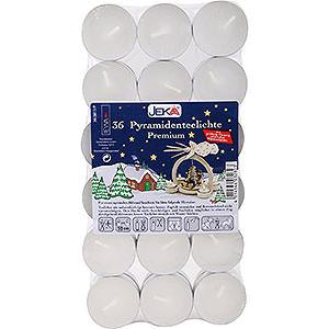 Lichterwelt Kerzen Pyramiden-Teelichter Premium, 36 Stück