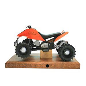 Räuchermänner Hobbies Räucher-Quad in orange 22x13x13 cm