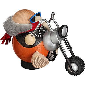Räuchermänner Hobbies Räuchermännchen Biker - Kugelräucherfigur - 12 cm