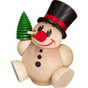 Räuchermänner Schneemänner Räuchermännchen Cool Man mit Baum - Kugelräucherfigur - 12 cm