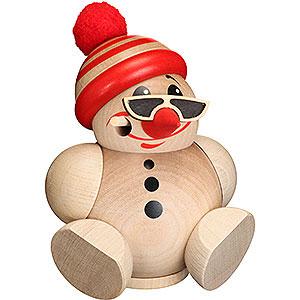 Räuchermänner Schneemänner Räuchermännchen Cool Man mit Mütze - Kugelräucherfigur - 12 cm