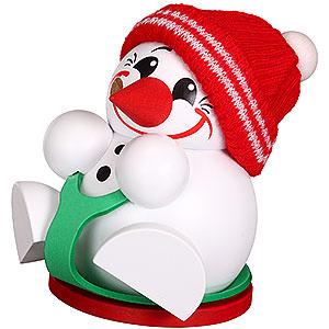 Räuchermänner Schneemänner Räuchermännchen Cool-Man mit Rutschbrettel - Kugelräucherfigur - 11 cm