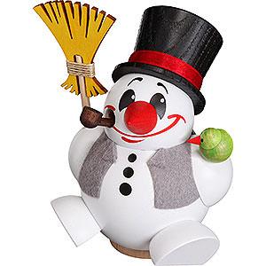 Räuchermänner Schneemänner Räuchermännchen Cool-Man mit Weste - Kugelräucherfigur - 12 cm