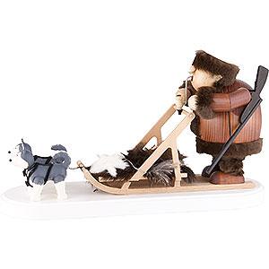 Räuchermänner Räucherfahrzeuge Räuchermännchen Eskimo mit Hundeschlitten - 21 cm