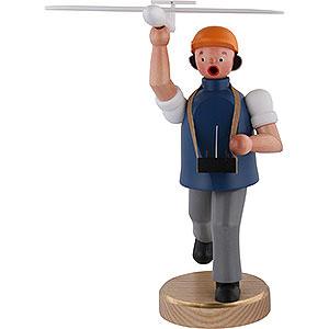 Räuchermänner Hobbies Räuchermännchen Flugmodell Sportler - 22 cm