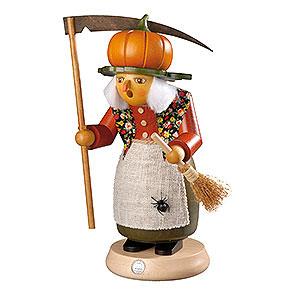 Räuchermänner Sonstige Figuren Räuchermännchen Hexe mit Kürbis - 25 cm