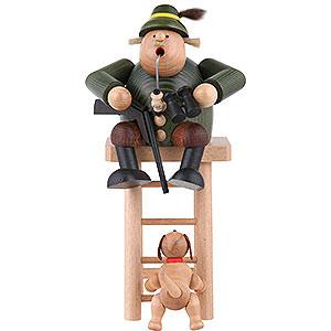Räuchermänner Berufe Räuchermännchen Jäger auf Hochsitz - 27 cm