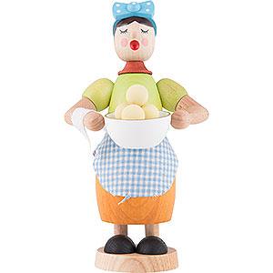 Räuchermänner Sonstige Figuren Räuchermännchen Kloßfrau - 17 cm