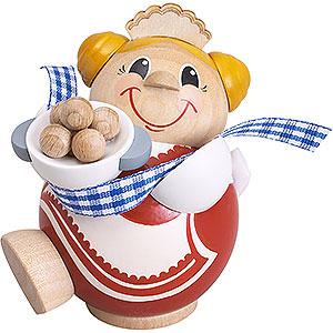 Räuchermänner Sonstige Figuren Räuchermännchen Kloßfrau - Kugelräucherfigur - 12 cm