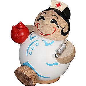 Räuchermänner Berufe Räuchermännchen Krankenschwester - Kugelräucherfigur - 11 cm