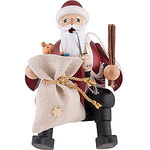 Räuchermänner Weihnachtsmänner Räuchermännchen Weihnachtsmann - Kantenhocker - 15 cm