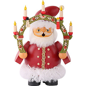 Räuchermänner Weihnachtsmänner Räuchermännchen Weihnachtsmann mit Kerzenbogen 14 cm