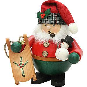 Räuchermänner Weihnachtsmänner Räuchermännchen Weihnachtsmann mit Schlitten - 15,5 cm