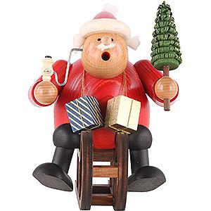 Räuchermänner Weihnachtsmänner Räuchermännchen Weihnachtsmann mit Schlitten - 18 cm