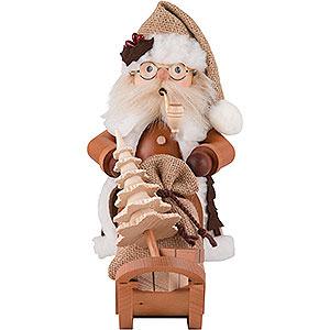 Räuchermänner Weihnachtsmänner Räuchermännchen Weihnachtsmann mit Schlitten - 28,0 cm