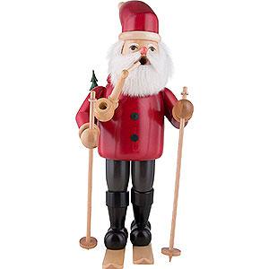 Räuchermänner Weihnachtsmänner Räuchermännchen Weihnachtsmann mit Ski - rot - 52 cm