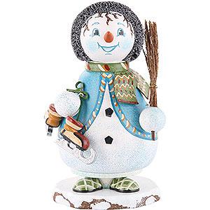 Räuchermänner Schneemänner Räuchermännchen Wichtel Schneeflöckchens Eiskufen - 14 cm
