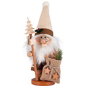 Räuchermänner Weihnachtsmänner Räuchermännchen Wichtel Weihnachtsmann mit Stab - 39 cm