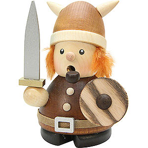 Räuchermänner Sonstige Figuren Räuchermännchen Wikinger natur - 9,5 cm