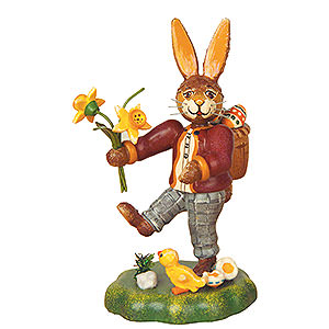 Small Figures & Ornaments Animals Rabbits Rabbit Father with Narcissus - 10 cm / 4 inch