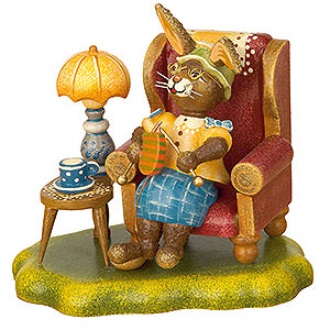 Small Figures & Ornaments Animals Rabbits Rabbit Grandma - 10 cm / 4 inch
