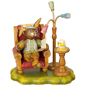 Small Figures & Ornaments Animals Rabbits Rabbit Grandpa - 10 cm / 4 inch