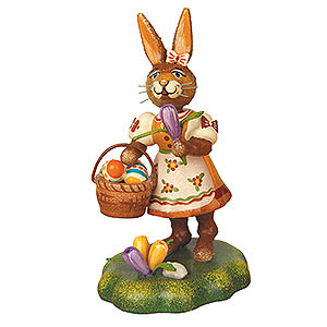 Small Figures & Ornaments Animals Rabbits Rabbit Mother with Crocus - 9 cm / 3,5 inch