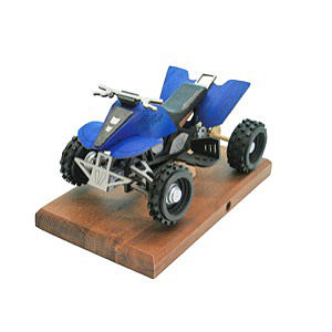 Räuchermänner Hobbies Räucher-Quad in blau 22x13x13 cm