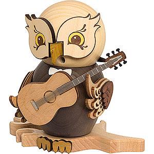 Räuchermänner Hobbies Räuchereule mit Gitarre - 15 cm
