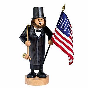 Räuchermänner Bekannte Personen Räuchermännchen Abraham Lincoln - 26 cm