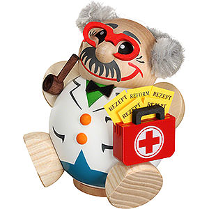 Räuchermänner Berufe Räuchermännchen Arzt - Kugelräucherfigur - 12 cm