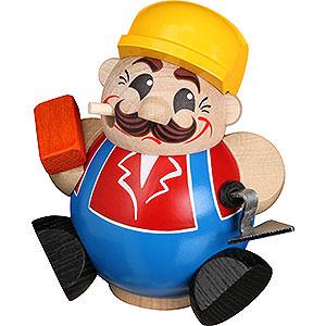 Räuchermänner Berufe Räuchermännchen Bauarbeiter - Kugelräucherfigur - 11 cm