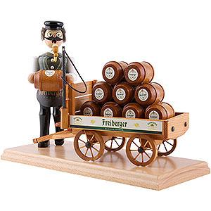 Räuchermänner Berufe Räuchermännchen Bierkutscher grün - 24 cm