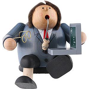 Räuchermänner Berufe Räuchermännchen Computerexperte - Kantenhocker - 15 cm