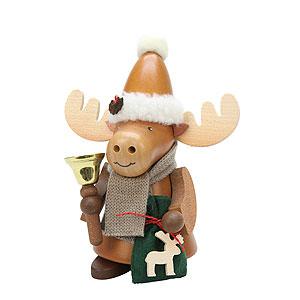 Räuchermänner Weihnachtsmänner Räuchermännchen Elch Weihnachtsmann natur - 20,5 cm