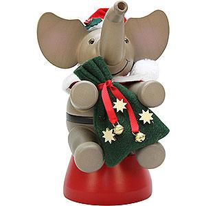Räuchermänner Weihnachtsmänner Räuchermännchen Elefant Weihnachtsmann - 20,0 cm