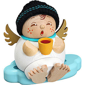 Räuchermänner Sonstige Figuren Räuchermännchen Engel mit Glühwein -  Kugelräucherfigur   - 10 cm