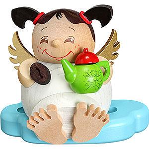 Räuchermänner Sonstige Figuren Räuchermännchen Engel mit Kaffee - Kugelräucherfigur - 10 cm