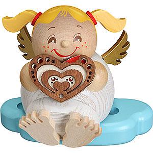 Räuchermänner Sonstige Figuren Räuchermännchen Engel mit Lebkuchen - Kugelräucherfigur - 10 cm