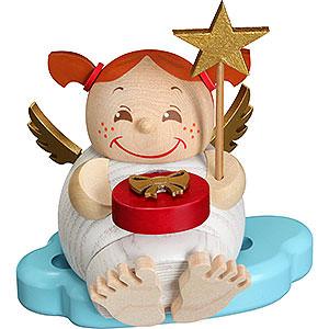 Räuchermänner Sonstige Figuren Räuchermännchen Engel mit Weihnachtsgeschenk - Kugelräucherfigur - 12 cm