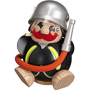 Räuchermänner Berufe Räuchermännchen Feuerwehrmann -  Kugelräucherfigur   - 12 cm