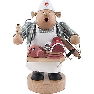 Räuchermänner Berufe Räuchermännchen Fleischverkäufer - 19 cm