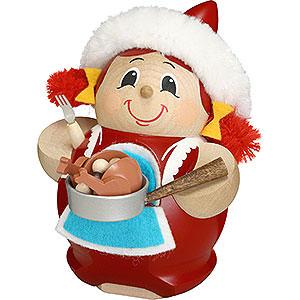 Räuchermänner Weihnachtsmänner Räuchermännchen Frau Nikolaus mit Gans - Kugelräucherfigur - 12 cm