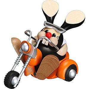Räuchermänner Hobbies Räuchermännchen Hase auf Trike - Kugelräucherfigur - 12 cm